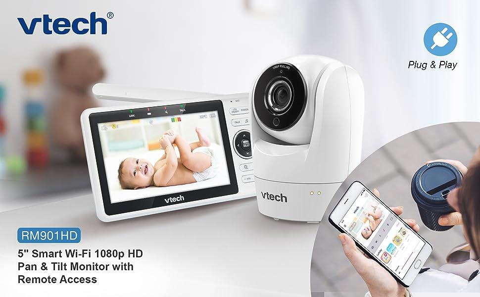 "RM901HD 5"" Smart WiFi 1080p HD Pan & Tilt Monitor wiht Remote Access"