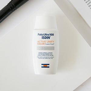 FotoUltra 100 ISDIN Active Unify Color SPF 50+ - Protector solar facial, Aclara y unifica el tono de piel, 50 ml: Amazon.es