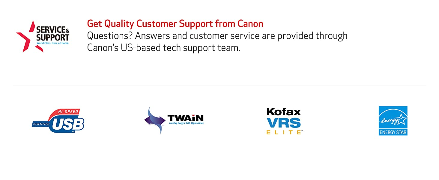 service and support scanner canon