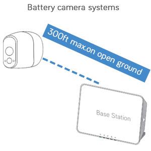arlo wire-free cameras maximum 300ft range