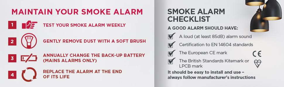 Kidde 10y29 Uk Optical Ten Year Long Life Battery Smoke Alarm