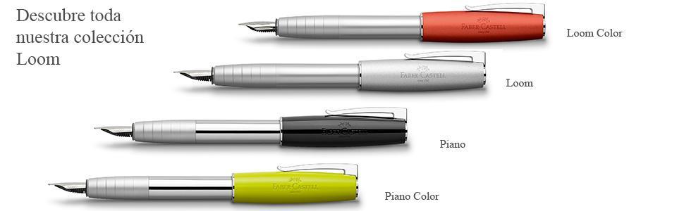 Faber-Castell Loom - Pluma con plumín ancho, color verde lima: Amazon.es: Oficina y papelería