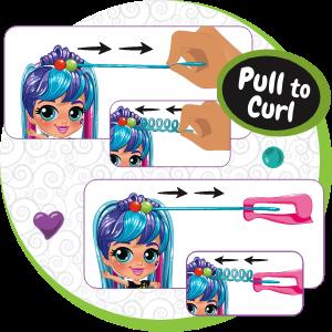 illustration of hair curling
