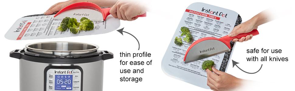 instant pot cutting board pressure cooker accessories 6 quart 8 slow crock instapot insert time