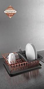 ... ordenación cocina, organizadores cocina, polytherm, cobre, copper, estante, escurreplatos ...