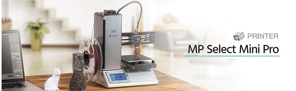 Monoprice Select Mini Pro 3d Printer Aluminum With 120 X 120 X