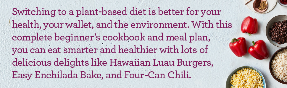 plant based diet, plant based diet for beginners book, healthy cookbook, plant based diet cookbooks