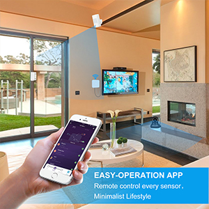 LarmTek Smart Wi-Fi Alarm System with, Alarm Host, Motion Sensor and Remote Smart Phone Control, IP Camera(Optional,Wireless LAN Wi-Fi GSM Cellular ...