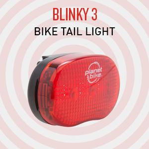 planet bike blinky 3 bike tail light rear light flashing red safety bike light