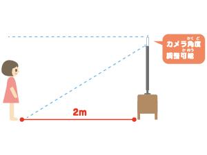 テレビ 調整 距離 2m  調整可能 カメラ角度
