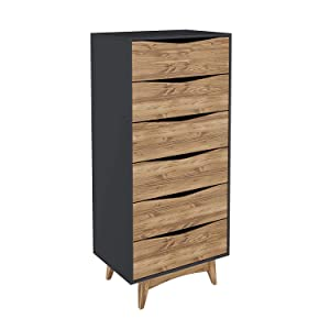 Amazoncom Manhattan Comfort Cs48409 Tall Narrow Midcentury Dresser