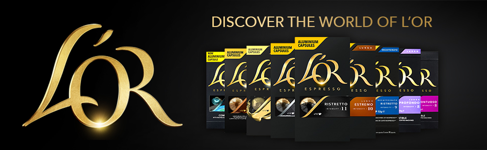 l'Or capsules, l'Or coffee, UTZ certified, l'Or brand, capsule range, l'Or range, coffee flavor