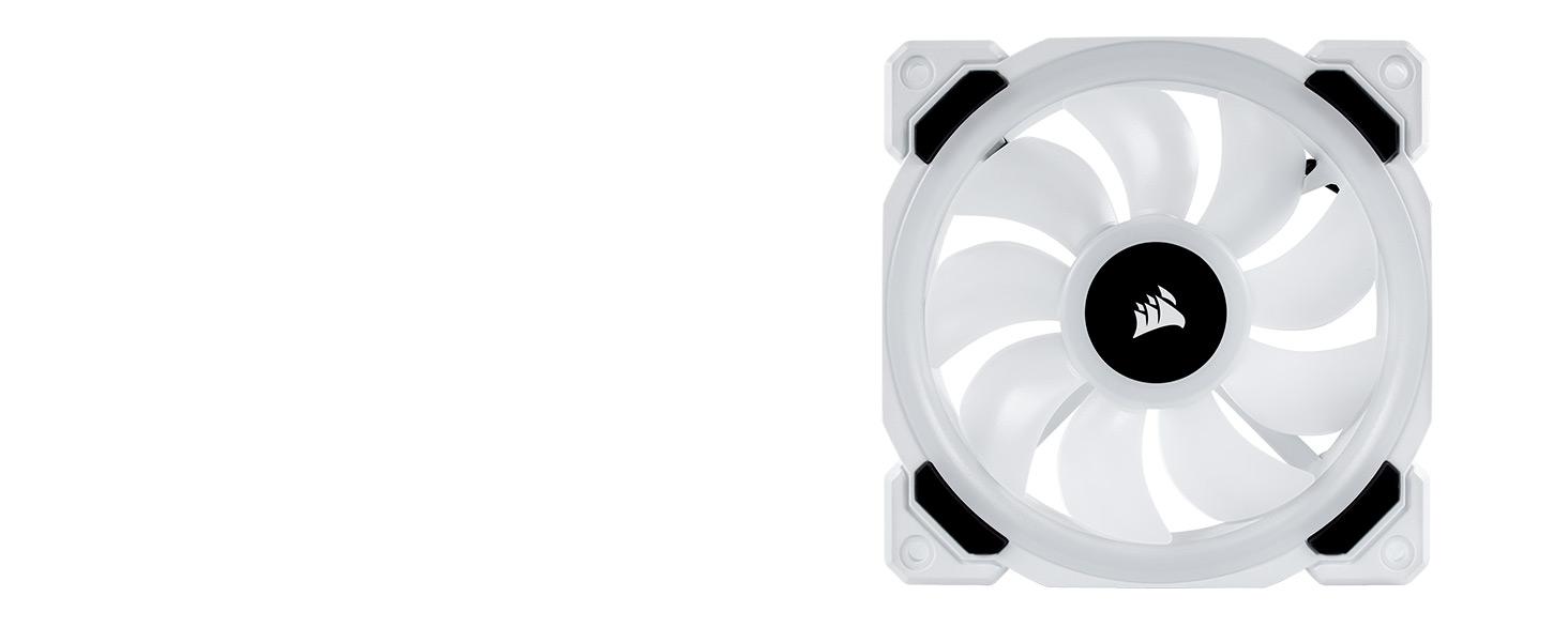 LL120 RGB 120mm Dual Light Loop White RGB LED PWM Fan — Triple Pack with Lighting Node PRO