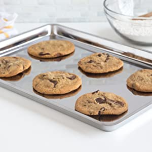 stainless steel baking pan; stainless steel jelly roll pan; stainless steel cookie sheet