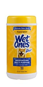Wet Ones, Pets, Cats, Dog, Wipes, Deodorizing, Tropical Splash, Puppy, Baking Soda