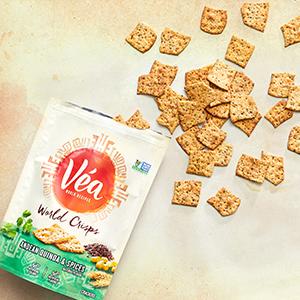 Amazon.com: Vea Snacks Seed Crackers, Greek Hummus with