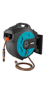 GARDENA Retractable Battery Operated Hose Reel 35M With Convenient Guide