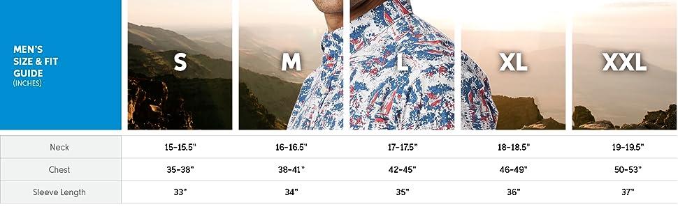 Men's short sleeve shirt sizing
