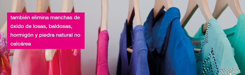 Tejidos, manchas, ropa, Quitamanchas específico , mancha oxido en tejido