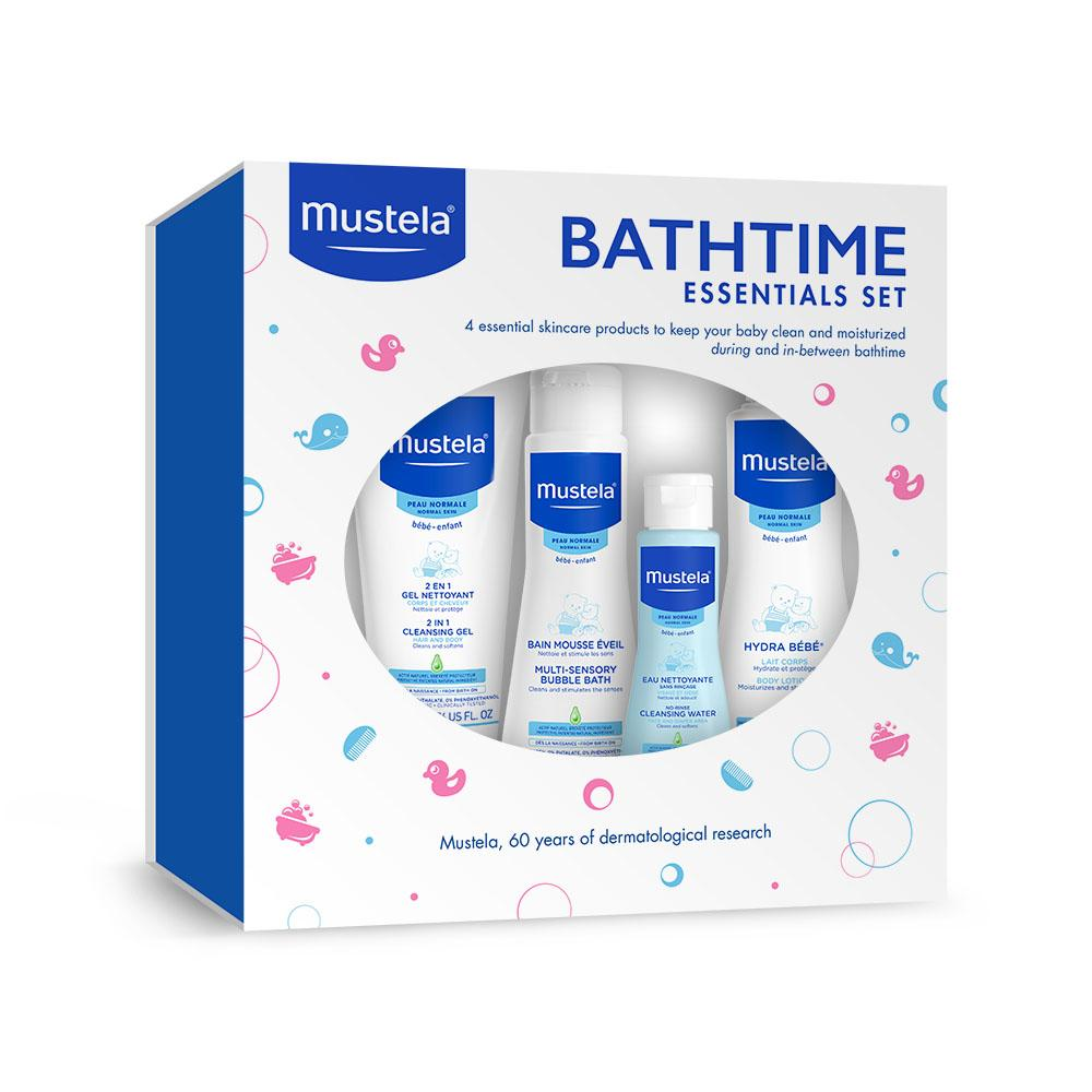 Amazon.com: Mustela Bathtime Essentials Gift Set, Gentle Baby Bath ...
