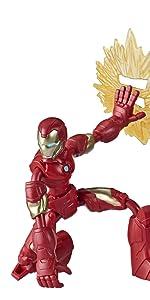 Bendy Figures; Iron Man;
