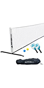 pickleball, tennis, combo, complete, outdoor, white, net, grass, outdoor, driveway, sport, steel