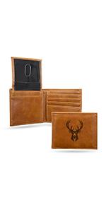 wallet,mens wallet,wallet for men,leather wallet,NBA, Milwaukee Bucks,Bucks