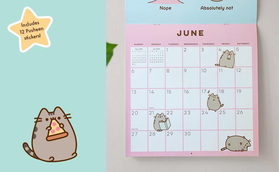 Pusheen Calendar 2021 Pusheen 2021 Wall Calendar: Belton, Claire: 0050837434325: Amazon