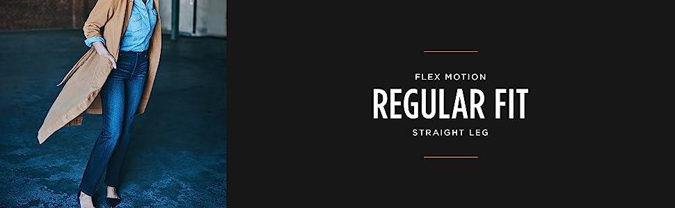 Flex Motion Regular Fit Straight Leg Jean