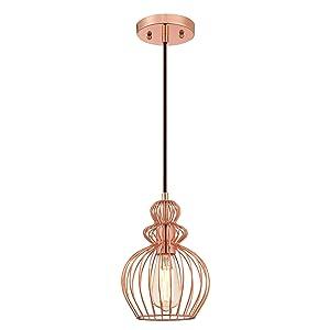Westinghouse Lámpara de Techo Colgante de 1 Luz E27, Cobre