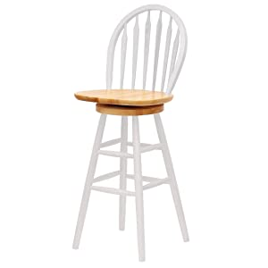Winsome Wood 30 Inch Windsor Swivel Seat Barstool Natural
