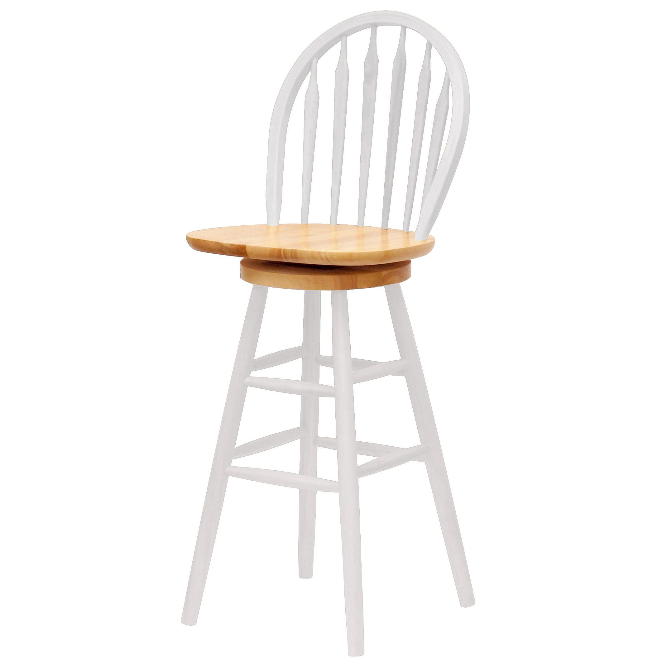 Winsome Wood 30 Inch Windsor Swivel Seat Barstool
