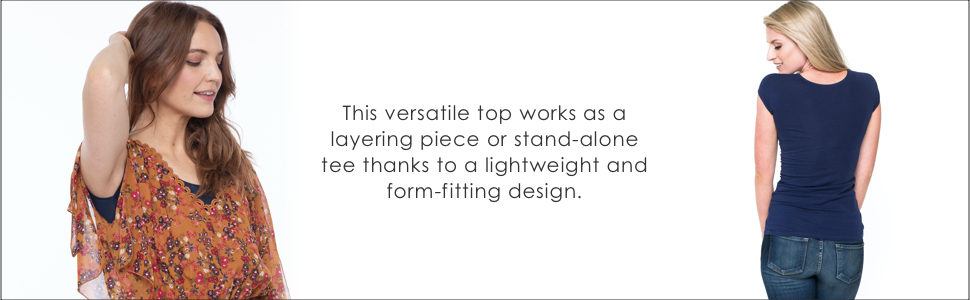 essential layering tee downeast layering tee form fitting layering tee