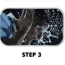 Rinse off with clean water and pat dry