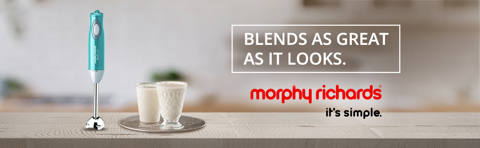 Morphy Richards Pronto Ultra 300-Watt Hand Blender (Blue)