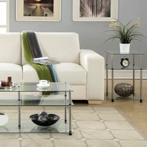 glass furniture coffee table