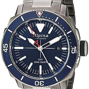 Alpina Seastrong Swiss Quartz Diver Watch, Stainless Steel, Turning Bezel, Screw down crown