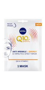NIVEA Anti-Wrinkle Face Sheet Mask with Serum, 1 Mask