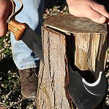machete woodmans pal axe multi use survival tool chop branch trees