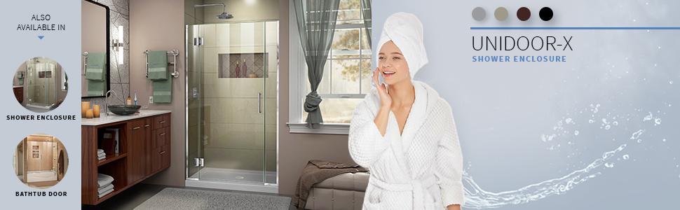 DreamLine, shower, shower doors, best shower, frameless hinged shower door, frameless, new shower,