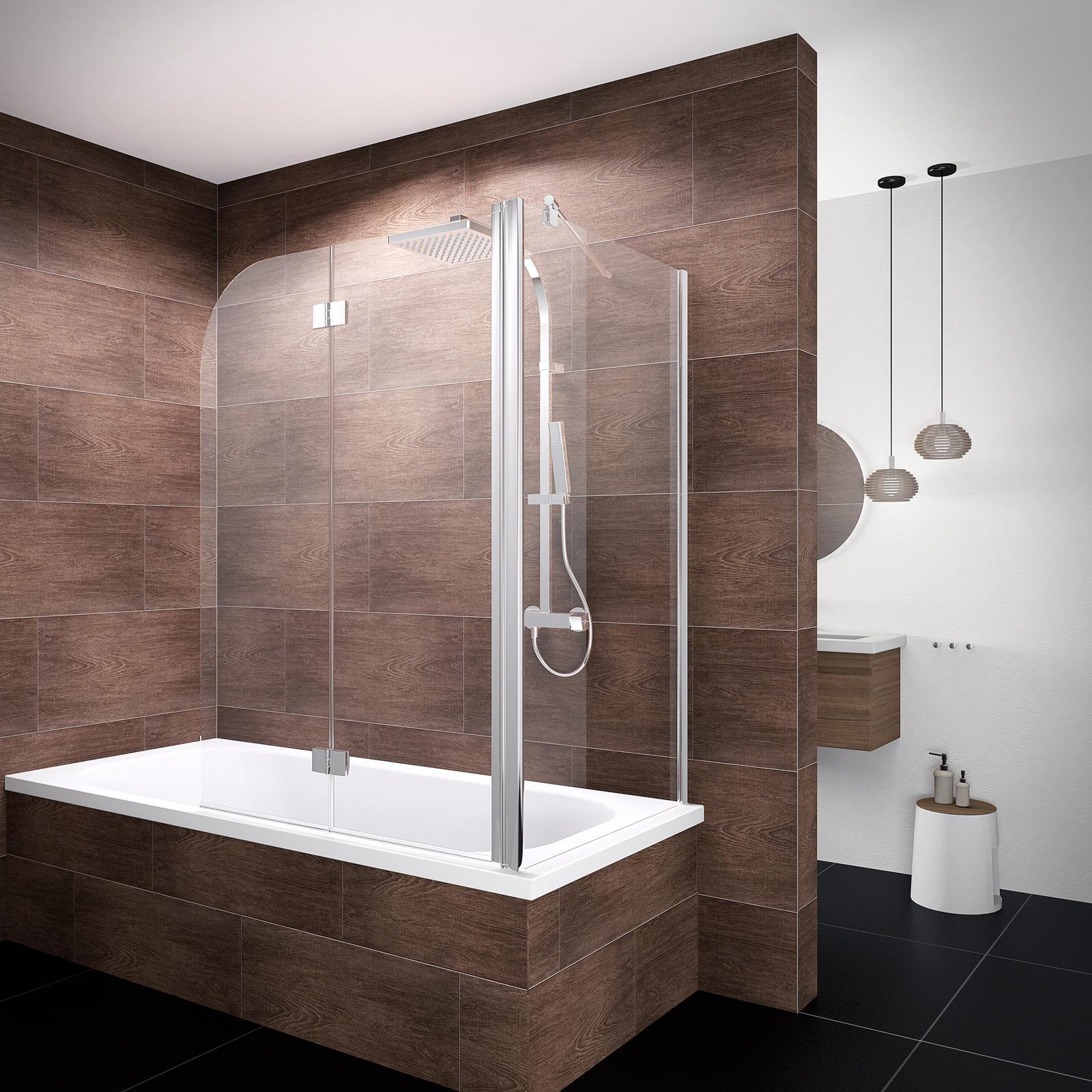 schulte duschwand angle 120x75x140 cm 2 teilig faltbar feste seitenwand sicherheitsglas. Black Bedroom Furniture Sets. Home Design Ideas