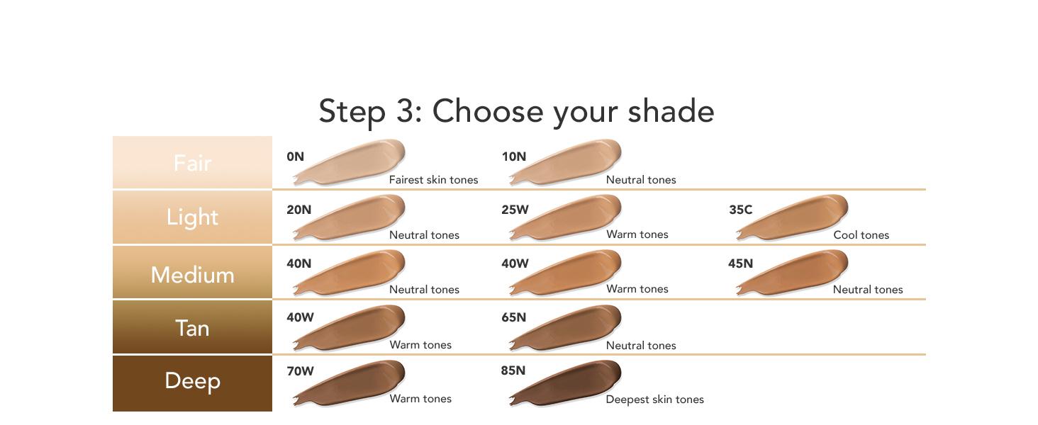 dermablend shade chart 12 shades