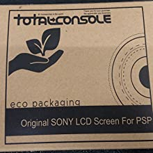 Cardboard packaging for each new LCD