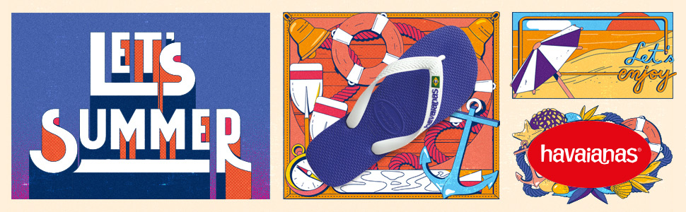 summer sandals and flip flops from Havaianas, the leader in flip flops