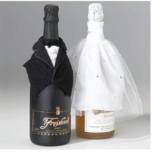Bride amp; Groom Wine Bottle Covers