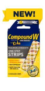 Compound W One Step Strips for Kids