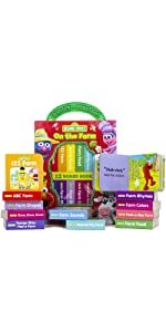 Sesame Street - On The Farm My First Library Board Book Block 12-Book Set