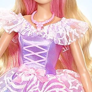 Barbie Dreamtopia Principessa al Ballo Reale bambola bionda con abito da ballo arcobaleno luccicante