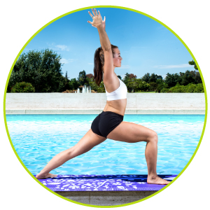 "Prosource Fit Yoga Mats 3/16"" (5mm) Thick for Comfort & Stability with Exclusive Printed Designs"