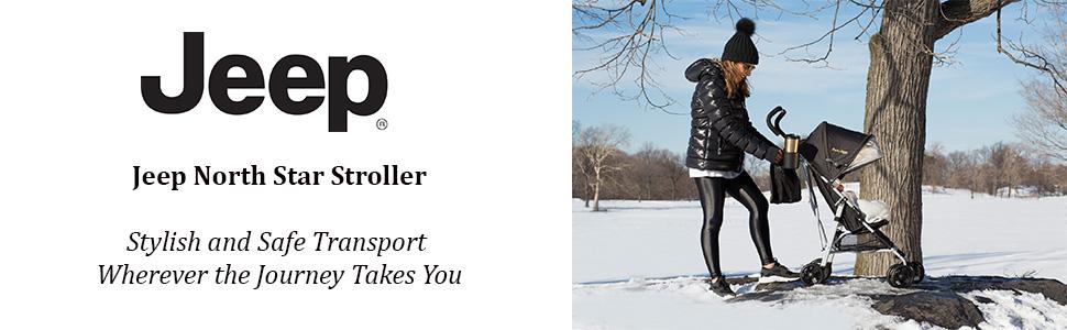 Black w//Grey Jeep North Star Stroller